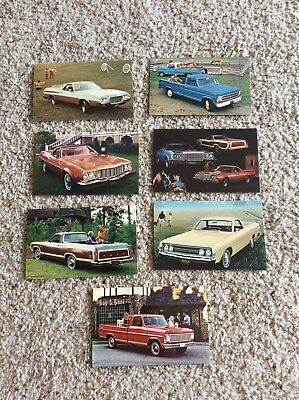 1960s-1970s Ford  Ranchero and pick-up original dealership promotional post card