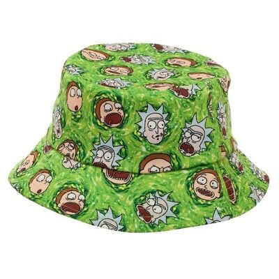 Rick and Morty Green Portal All Over Print Bucket Hat Adult OSFM Adult Swim 9cd46268a543