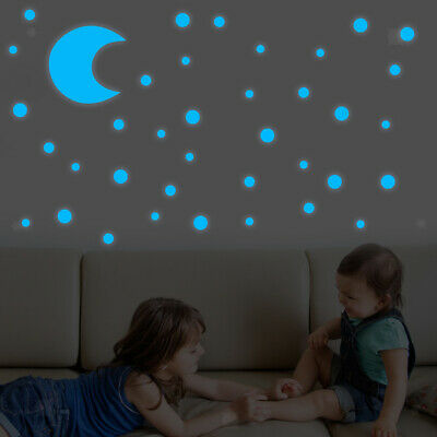Glow In The Dark Stars Reusable Self Adhesive Stickers Decal Peel And Stick