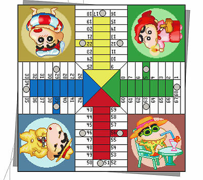 Esquema Punto De Cruz - Parchis Shin Chan - Digital Copy