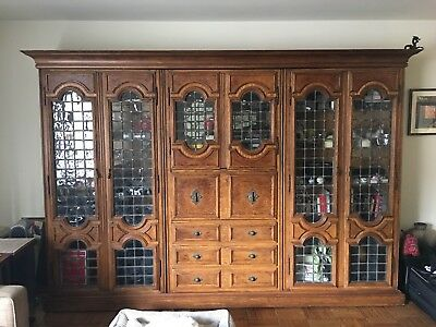 Showpiece!! Maple Wall Unit Bookcase Armoire