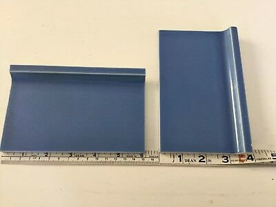 "Vintage French Blue 6""x3-3/4"" Wall Base Tiles"