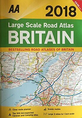 AA 2018 Large Scale Road Atlas Britain Book The Cheap Fast Free Post