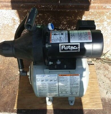 Flotec FP401215H - 8 GPM 1/2 HP Thermoplastic Shallow Well Jet Pump w/ 15 Gal...