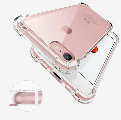 For iPhone 11 Pro Max XS 8 7 Plus 6 5 Soft Shockproof Tough Gel Clear Case Cover
