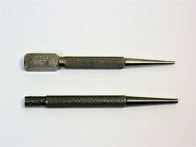 Two Vintage Millers Falls 4 Nail Set Punches 802 2 32