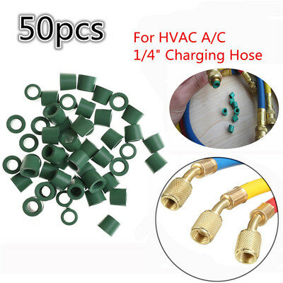 "50pcs A/C 1/4"" Charging Hose HVAC Manifold Repair Sealing O-ring Replacement"