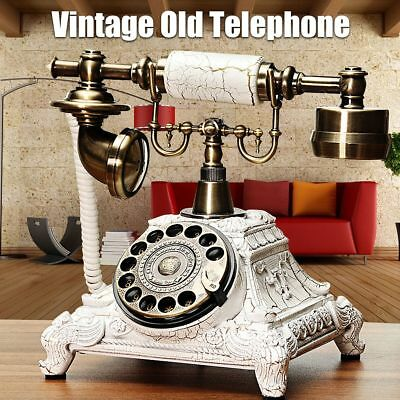 Vintage Rotary Plate Dial European Style Old Fashioned Telephone Handset Decor