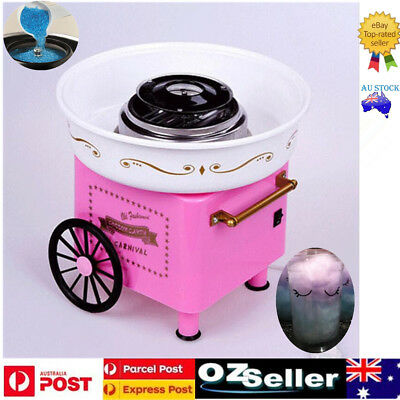 Sweet Pink Electric Home Cotton Floss Machine Fairy Retro Cart Sugar Home Party