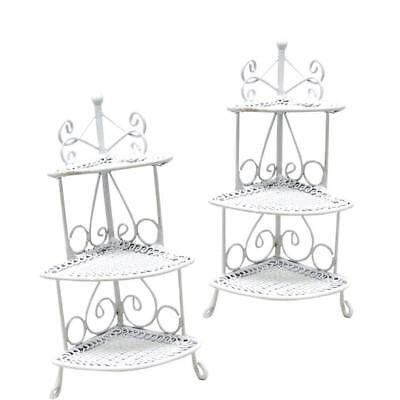1:12  Doll House Furniture - White Wire Flower Stand 3 Tier NEW.US