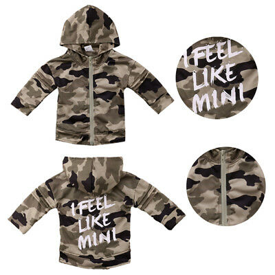 Camouflage Outerwear Infant Toddler Kids Baby Boy Long Sleeve Tops Coat AU Stock