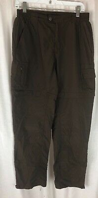 Columbia Titanium Womens Convertible Pants Shorts Brown Packable Hiking Sz S / M