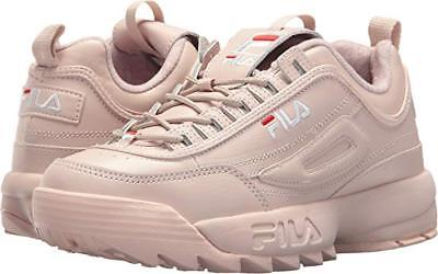 80a083a27d05 Fila Disruptor II Premium Athletic Pink Womens Shoes Thick Sole Sizes 6-10