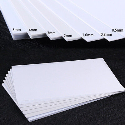 White Smooth Plastic Plate ABS Sheet DIY Model Craft 0.5/0.8/1/2/3/4/5mm Thick