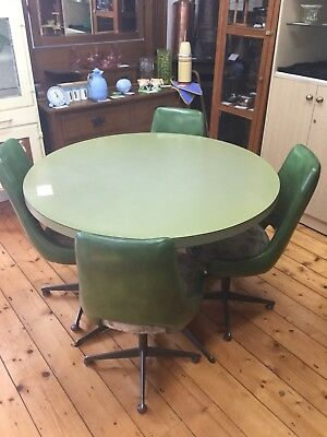 Vinatge Retro Green Kendall Dinning Table And Chairs