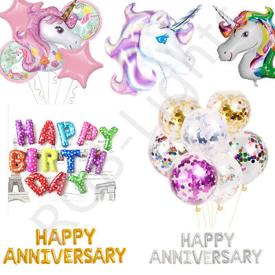 Self Inflating Happy Birthday Anniversary Banner Balloons Bunting Letters RLTS