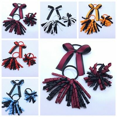 BLESSING Good Girl Corker Ponytail Streamers Bow Elastic Clip Hair Accessories