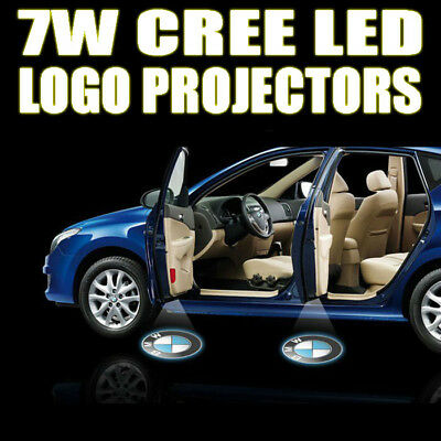 12V Car Logo Cree LED Ghost Shadow Door Light Lighting Lamp Laser Kit Pair