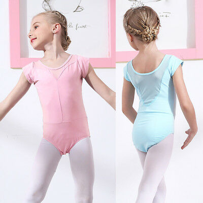 f95522e09 KID GIRLS BALLET Dance Half Lace Sleeve Skirt Dancewear Leotard ...