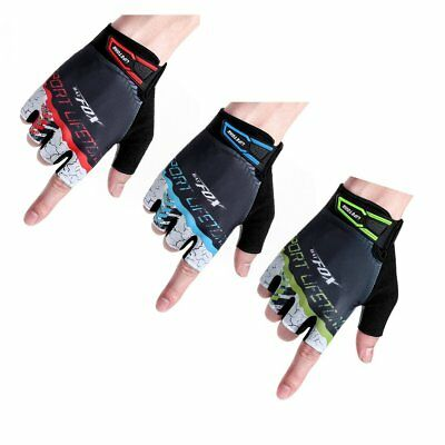 BATFOX Cycling Half Short Finger Gloves Bicycle Gloves Men Women Bike Mitts EC