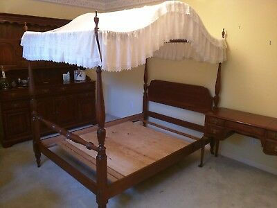 Pennsylvania House Solid Cherry Full Size 4 Poster Bed Frame w/Canopy No. 6529
