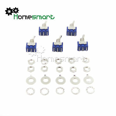 2/5/10pcs MTS-102/103 3 PIN Blue Toggle Switch SPDT On-On/On-Off-On AHS