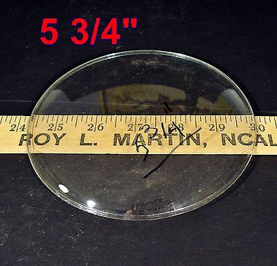 "Vintage NOS 5 3/4""dia Round Convex CLOCK Door GLASS antique replacement part"