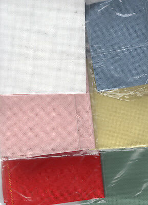 NEW! Pieces of 16 Count Aida Cross Stitch Fabric Choose Colour and Size