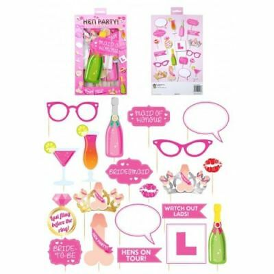 20Pc Hen Do Party Photo Booth Selfie Props Girls Ladies Night Out Accessory