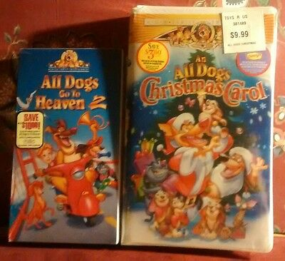 all dogs go to heaven 2 and all dogs christmas carol vhs tapes new sealed - All Dogs Christmas Carol