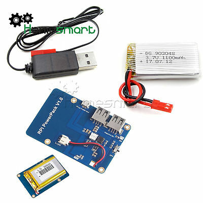 Lithium Battery Power Expansion Board w/ Dual USB Output for Raspberry Pi3 AHS