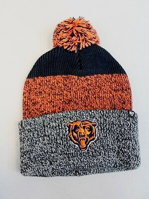 7994c5595d8 Chicago Bears Unisex 47 NFL Static Cuff Pom Knit Beanie HD3 Multi-Color One  Size