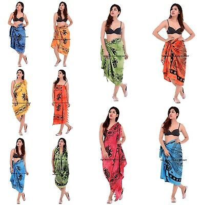 4f9e462712 Indian Cotton Pareo Beach Scarf Sarong Wrap Dupatta Bikini Cover Up Swimwear
