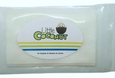 SAMPLE Organic Bamboo Baby Wipes ♡ Made w/ Coconut Oil~ Little Coconut  18×20cm