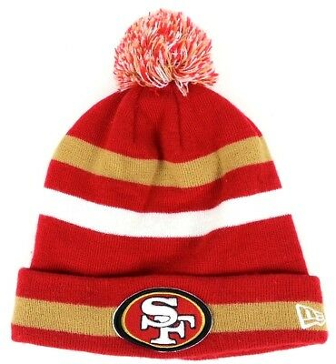 b09cdf43672 New Era SF 49ers Knit Pom Cap Hat Beanie NFL Lined San Francisco Football  Winter