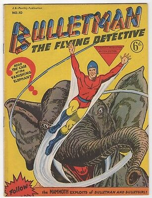 Bulletman #10   (Arnold Book Co 1951)  Uk  Rare and only Issue  FN/VFN