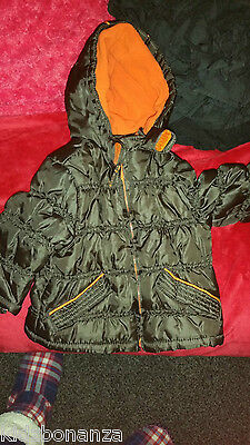 mothercare baby boy winter coat age 3-6 months fleeced lined jacket