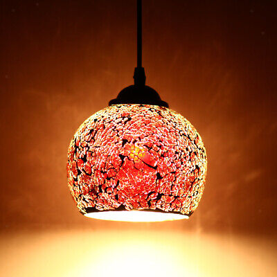 Vintage Hanging Light Cover Mosaic Pendant Ceiling Lampshade Stained Glass