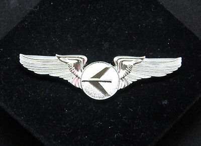 Embraer Logo WINGS ERJ SILVER LARGE Wing Pin for Pilot Crew as uniform accessory