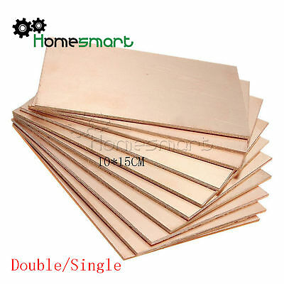 1/5/10PCS 10CM*15CM  Double/Single PCB Copper Clad Laminate Board AHS