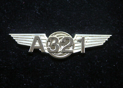 Airbus A321 WINGS Airbus gold for Pilot Crew uniform 55mm A 320 Wing Pin
