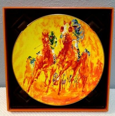 Royal Doulton Winning Colors Collectors Plate Leroy Neiman Horse Racing