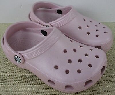 aef11a2fef Crocs Cayman Kid's Cotton Candy Pink Slip On Clog Shoes Size M2/W4 New With