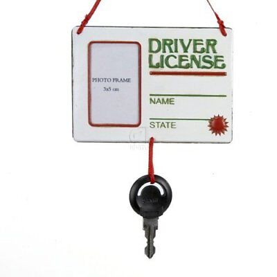 "Kurt Adler ""Drivers License"" With Key Picture Frame Ornament"