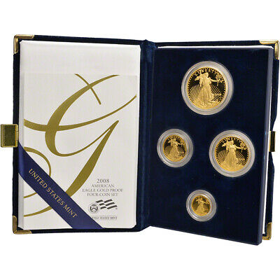 2008 American Gold Eagle Proof Four-Coin Set