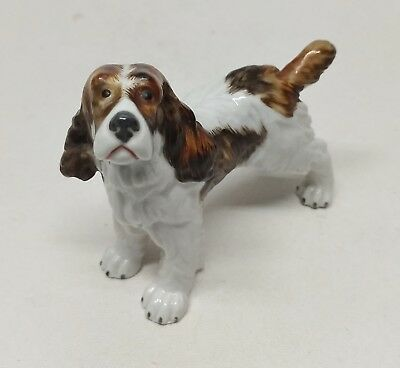 Brittany Spaniel Porcelain Dog Figurine ~ Made in Spain ~ Marked