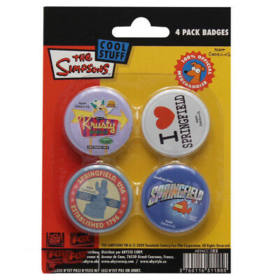 Simpsons Springfield Button Set