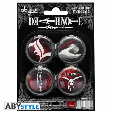 Death Note Symbols Button Set