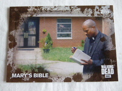 The Walking Dead Season 5 MUD Parallel Base Card #43 Mary's Bible 24/50