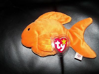 Ty Beanie Baby Goldie w/P.V.C Pellets NEW LAST ONE FREE USA SHIPPING
